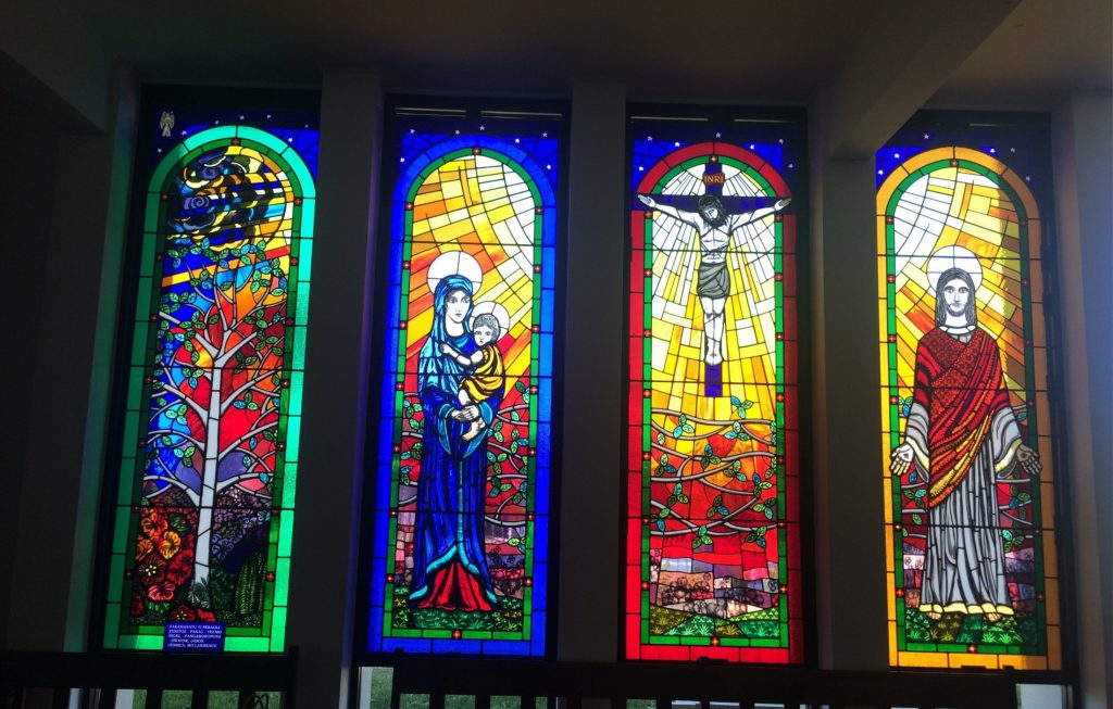 Stained glass Creation windows Sydney Tongan church